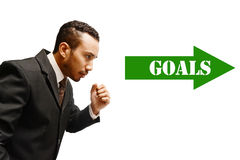 reaching goal Stock Photos