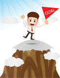 Reaching goal target character Stock Image
