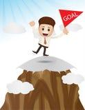 Reaching goal target character Stock Image