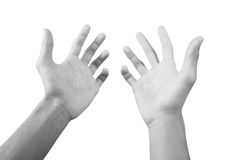 Reaching hands Royalty Free Stock Photography