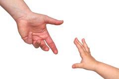 Reaching hands Stock Photos