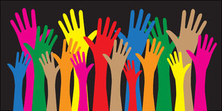 Reaching hands freedom diversity. Reaching arms freedom diversity Royalty Free Stock Photos