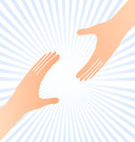 Reaching hands help concept Royalty Free Stock Photography