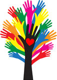 Reaching hands love freedom diversity stock illustration