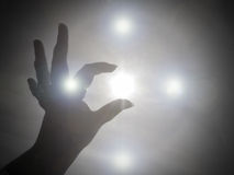 Reaching for the light and love of God Royalty Free Stock Photo