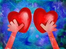 Reaching for Love Stock Photography