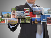 Reaching one of images streaming Stock Photography