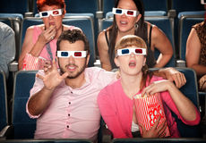 Reaching Out at 3D Movie stock photo