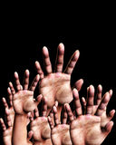 Reaching Out 4. An image of a set of hands outreaching