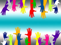 Reaching Out Represents Hands Together And Arm. Reaching Out Meaning Hands Together And Friendships
