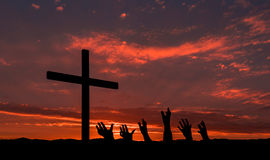 Reaching For Salvation Stock Photography