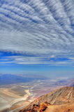 Reaching the sky. Look over the Death Valley National Park at Dante's View Royalty Free Stock Photos
