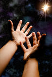 Reaching for the star Royalty Free Stock Images