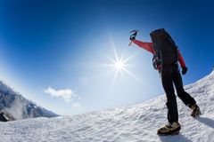 Reaching the summit Stock Photography