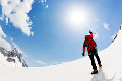 Reaching the summit royalty free stock image