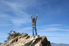 Reaching the summit Royalty Free Stock Photography