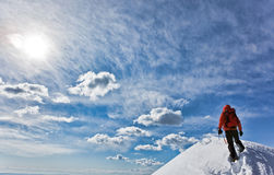 Reaching the summit Royalty Free Stock Photo
