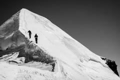 Reaching the summit Stock Photo