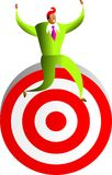 Reaching the target Stock Photo