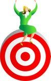 Reaching the target Royalty Free Stock Photos