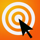 Reaching target. Reaching your online targets and objectives Stock Photos