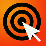 Reaching for target. Clicking on target and reaching the objective Royalty Free Stock Photos