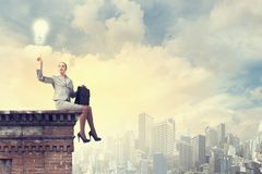 Reaching the top Royalty Free Stock Photos