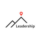 Reaching the top like leadership logo Royalty Free Stock Photography