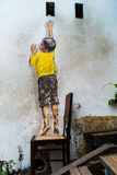 Reaching Up Street art George Town Royalty Free Stock Photo