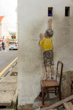 Reaching Up Street Art at George Town Royalty Free Stock Photos