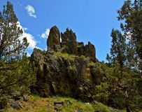 Reaching Upward. Skull Rock in Skull Hollow - Crooked River National Grassland - OR stock photography