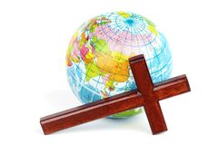 Reaching the world for Christ Stock Photo