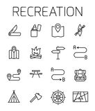 Reacreation related vector icon set. Stock Photography