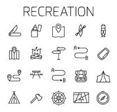 Reacreation related vector icon set. royalty free illustration