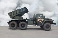 Reactief systeem van een kaliber van de salvobrand 122 mm royalty-vrije stock foto