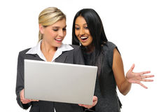 Reaction business women Royalty Free Stock Photography