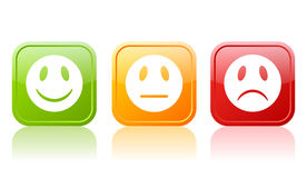 Reaction buttons royalty free illustration