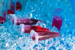 Reaction plastic tube Stock Photo