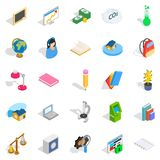 Reactions icons set, isometric style. Reactions icons set. Isometric set of 25 reactions vector icons for web isolated on white background Royalty Free Stock Photography