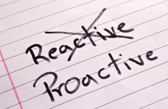 Reactive and Proactive concept Royalty Free Stock Photos