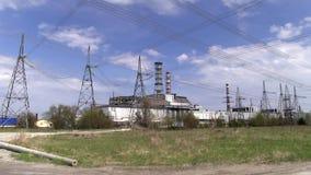 Reactor de Chernóbil almacen de metraje de vídeo