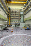 Reactor room RBMK. Massive reactor lid, equipment maintenance and replacement of the reactor fuel elements Stock Images