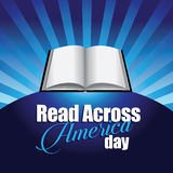 Read across America day book burst design Stock Image