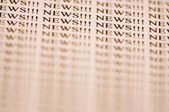 Read All About It!!!. News and sensations Stock Photo