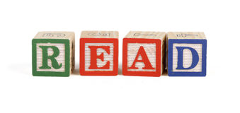 Read - Alphabet blocks Royalty Free Stock Images
