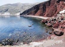 Read beach. In akrotiri on Santorini island royalty free stock photo
