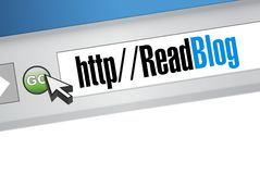 Read blog website browser page. illustration Royalty Free Stock Photos