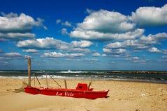 Read boat Stock Photo