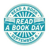 Read a Book Day, September 6. Rubber stamp, vector Illustration stock illustration