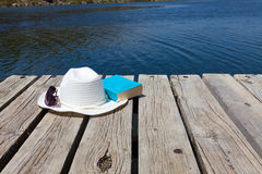 Read a book at the lake Stock Photos